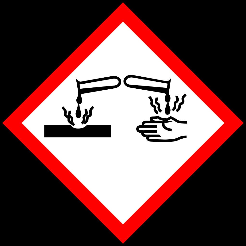 Panneau Corrosif