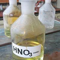 The danger of acid nitric