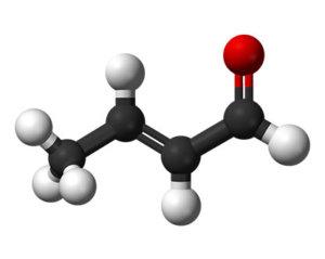 Crotonaldehyde molecule