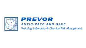 Prevor logo : anticipate and save. Toxicology laboratory & chemical risk management