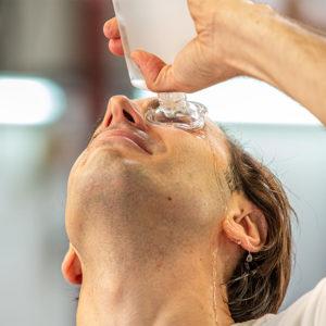 Hexafluorine solution eyewash