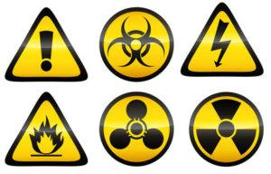 Kontamination chemischer Abfälle