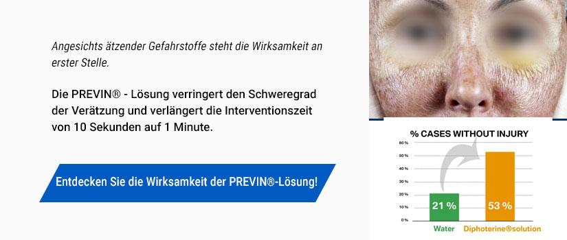 Banner Previn Verringert den Schweregrad