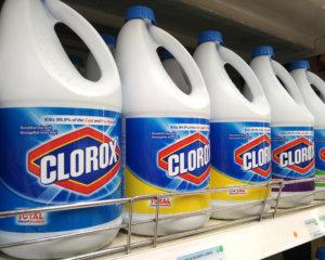 Botellas de cloro